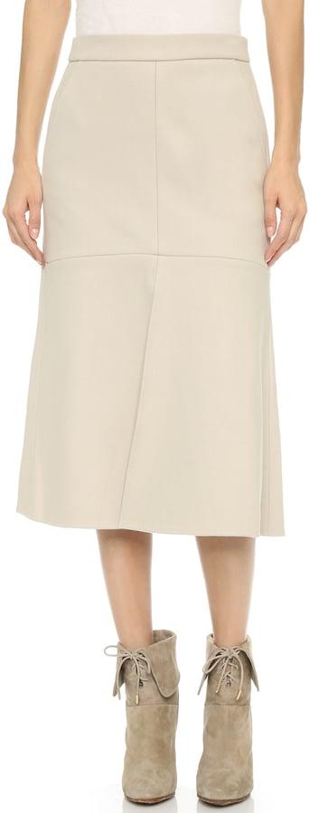 Tibi Front Slit Midi Skirt ($495)
