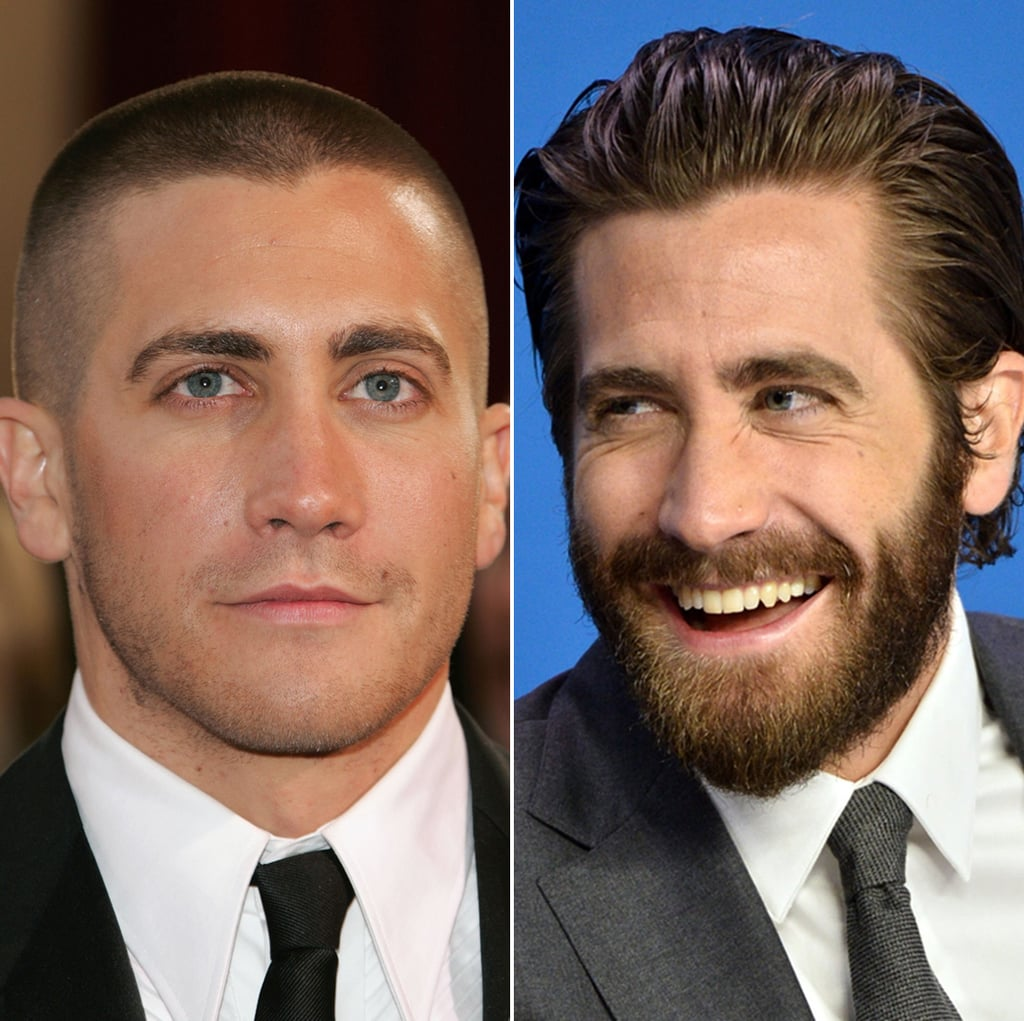 Jake Gyllenhaal Male Celebrities With Hair Vs Shaved Heads Popsugar Beauty Australia Photo 8