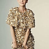 Katie Holmes wore a sparkly dress in Harper's Bazaar Russia.