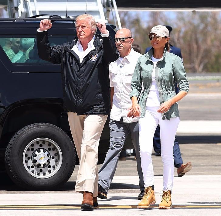 Melania Trump Wearing Timberland Boots | POPSUGAR Fashion