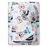 Pillowfort Hipster Animal Flannel Sheet Set