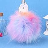 Raylans Faux Fur Unicorn Key Chain