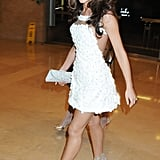 At the 2009 Brit Awards, Cheryl picked a floral-appliqué mini with sheer panels by Georges Chakra.