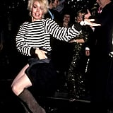 Dancing queen Joey Heatherton shows off her moves at Regine's New Year's Eve party in 1982.