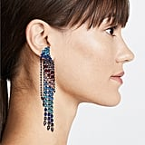 Rebecca Minkoff Gemma Winged Crystal Fringe Earrings