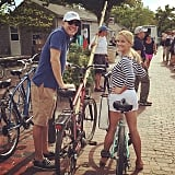 """The star was all of us when she posted this photo of """"a long Saturday bike ride"""" and asked, """"Does this count as cardio?"""""""
