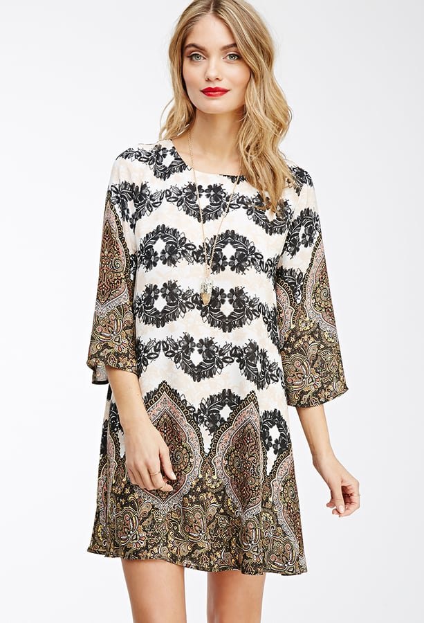 FOREVER 21 Floral Paisley Shift Dress