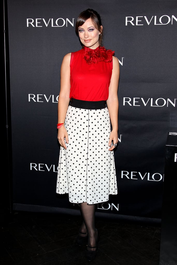 Olivia Wilde did press for Revlon.