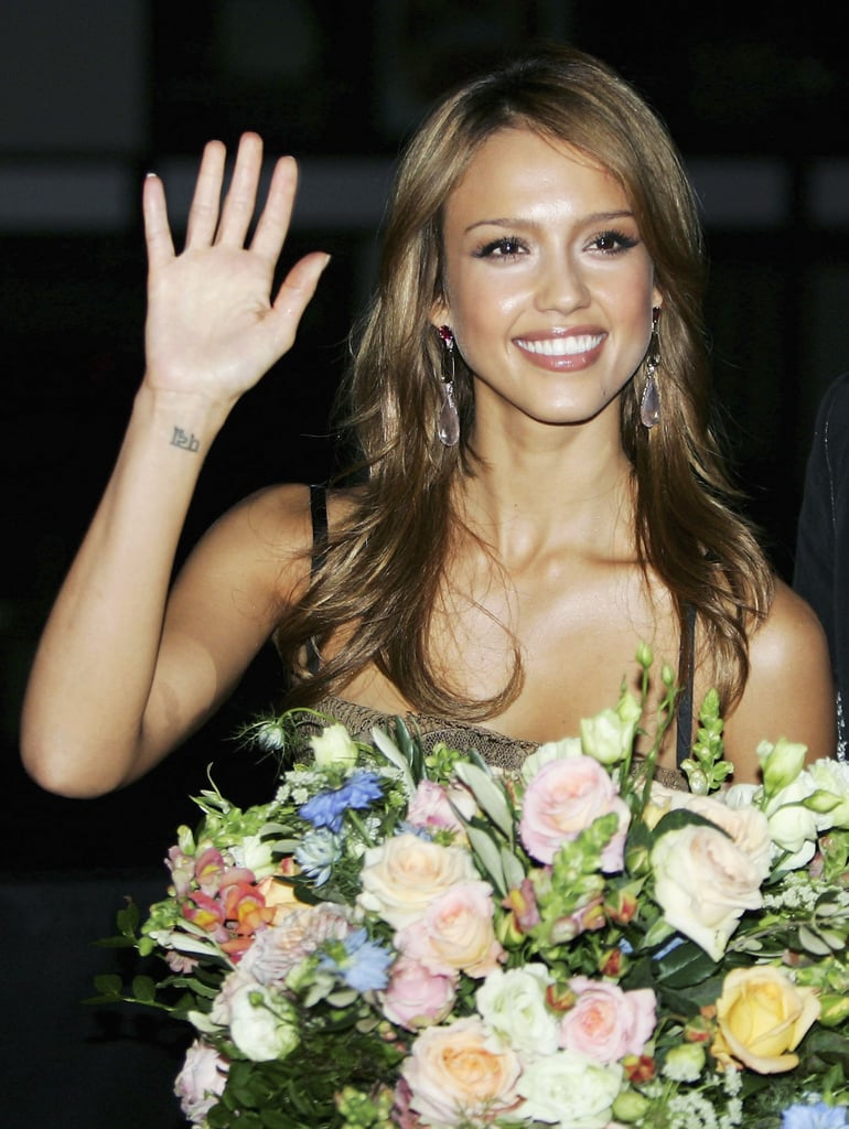 "Jessica Alba ""Lotus"" Tattoo"