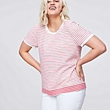 Loft Stripe Textural Sweater Tee
