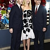 Gwyneth Paltrow met with Prada communication director Stefano Cantino and Printemps CEO Paolo de Cesare.