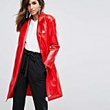 Miss Selfridge Vinyl Trench Coat