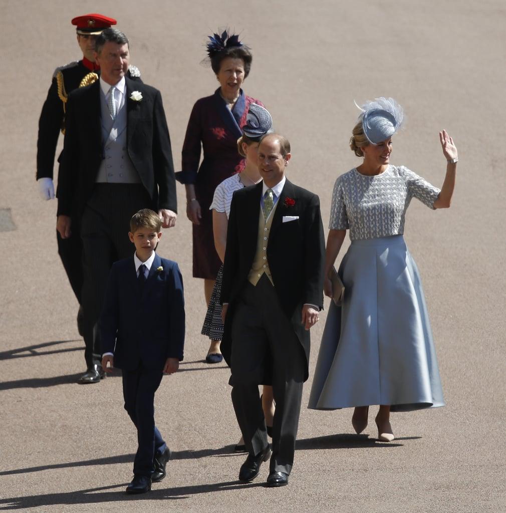 الأمير إدوارد، وصوفي، كونتيسة وسكس، وجيمس، الفيكونت سيفيرن