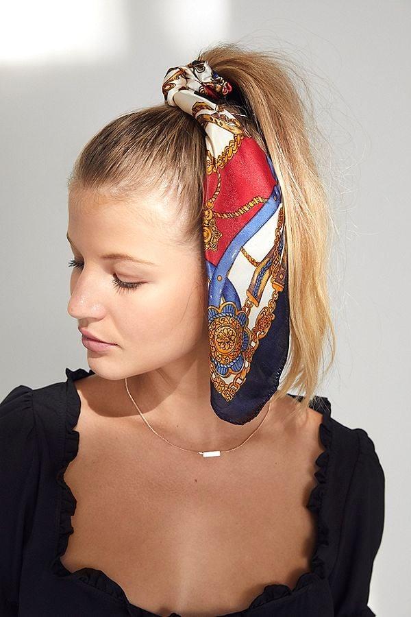 Lana Silk Scarf Ponytail Holder Hair Bow Trend Fall 2018