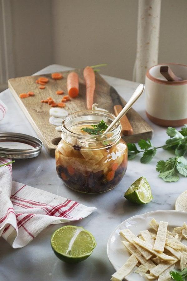 DIY Just-Add-Agua Tortilla Soup