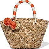 We Love: Kayu St Tropez Mini Pompom-Embellished Woven Straw Tote, $83.66