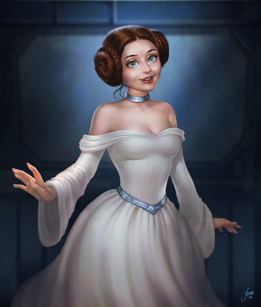 There's a petition for Princess Leia to be added to the official Disney princess lineup, and consider our names signed! The badass Star Wars heroine would be the perfect addition to the tiara-clad club, showing those other princesses a thing or two about what it means to be a role model to young girls. Just look to DeviantArt, where talented artists have shared their interpretation of what Princess Leia would look like as a Disney princess. See the sexy, sweet, strong, and even funny fan art ahead.      Related:                                                                If Disney Princesses Were Star Wars Characters, This Is How Awesome They'd Look                                                                   What Would the Disney Princesses Be For Halloween? This Artist Puts Them in Costumes                                                                   These Adorable Illustrations of Geeky Villains Will Totally Change Your Perception About Them