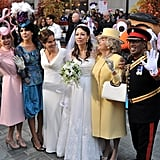Today show hosts dressed like royal family members.