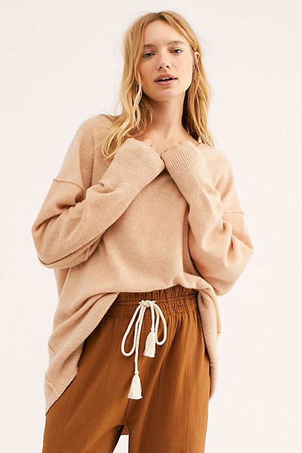 Free People Talk All Night Cashmere Sweater