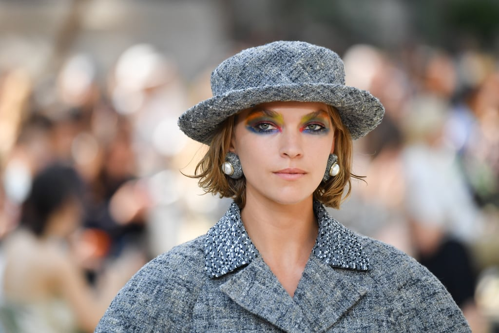 f99de6d2 Every look was topped with a boater hat | Chanel Couture Show Fall ...