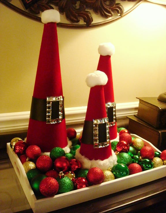 Santa Decorative Cones
