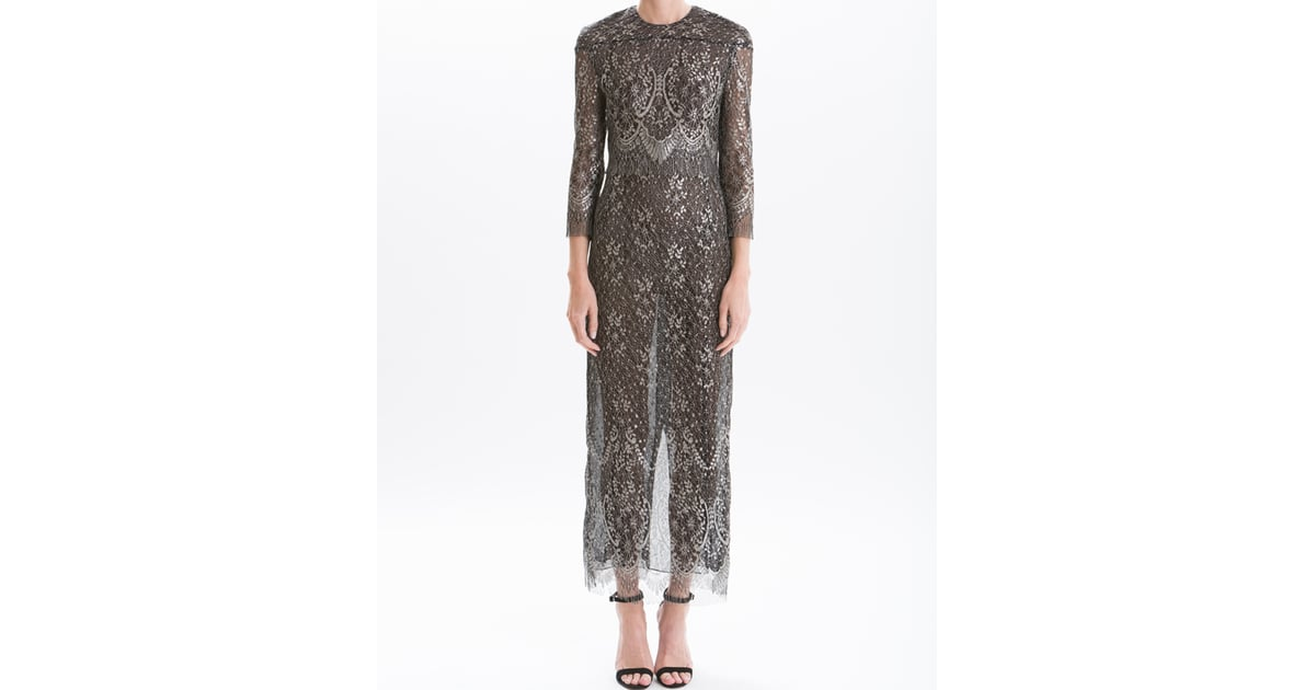 J. Mendel Metallic Lace Long Sleeve Gown | Melania Trump\'s Sheer ...
