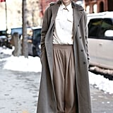 If you wear a relaxed pair of tapered trousers, you can easily sneak a pair of thermals underneath.