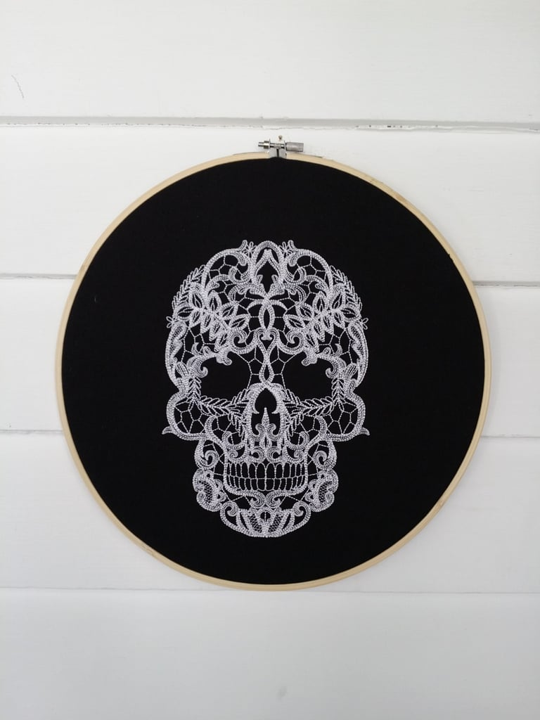 In case you haven't heard, embroidery hoops are making a comeback. The old-fashioned designs have been reincarnated in many ways, but these 10 embroidery hoops from Etsy are a unique and unexpected way to decorate your home for Halloween. Warning: these designs are so spooktacular that you may even consider keeping them up year-round. Read on to see what we mean.      Related:                                                                                                           These Trendy Halloween Bowls Are Causing a Shopping Frenzy