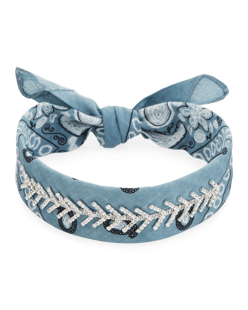 The only thing better than a bandana is one embellished with crystals ($160).