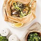 Zucchini Noodles With Clams en Papillote