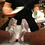 Diddy got a foot scrub (and rub). Source: Instagram user diddy