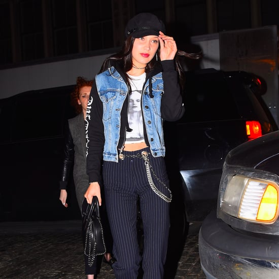 Bella Hadid Wearing Chain Belt January 2017