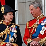 Pictured: Princess Anne, Prince Charles.