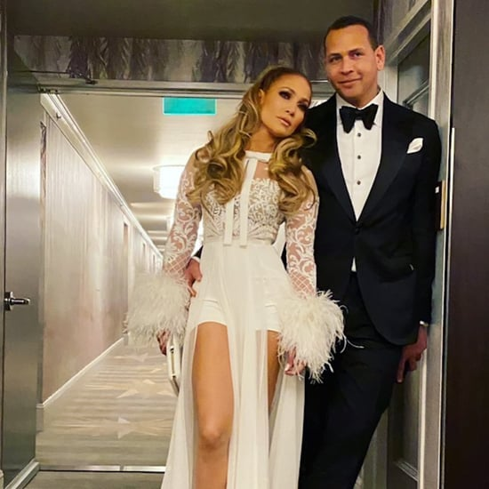 Jennifer Lopez's Feathery Golden Globes Afterparty Outfit