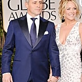 Nominee Matt LeBlanc and Andrea Anders walk the red carpet.