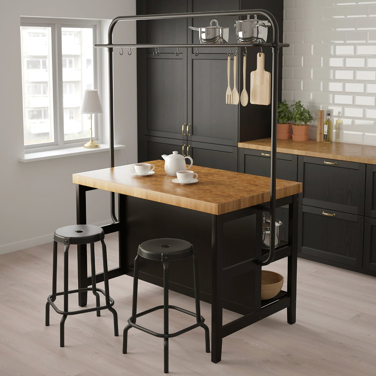 Vadholma Kitchen Island With Rack Best Ikea Kitchen Products For Small Spaces Popsugar Home Uk Photo 8