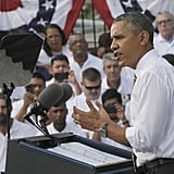 President Barack Obama spoke to a crowd in Maryland on Oct. 3, addressing the need for Congress to pass a budget.