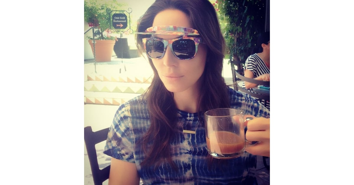 Whitney cummings wore flip up shades while hanging in ojai for Ojai celebrities
