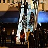 After Liberia, Michelle, Malia, and Sasha Obama landed in Morocco on Tuesday as part of the Let Girls Learn tour.