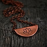 Copper Lotus Pendant