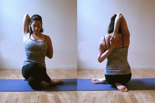 Strike a Yoga Pose:  Cow Face