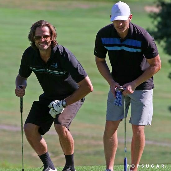 Jensen Ackles and Jared Padalecki Golfing July 2017