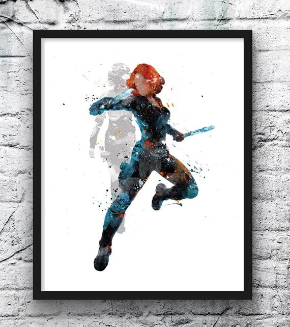 Black Widow Wall Art
