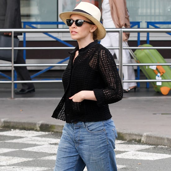 Kylie Minogue Wearing Fedora Hat
