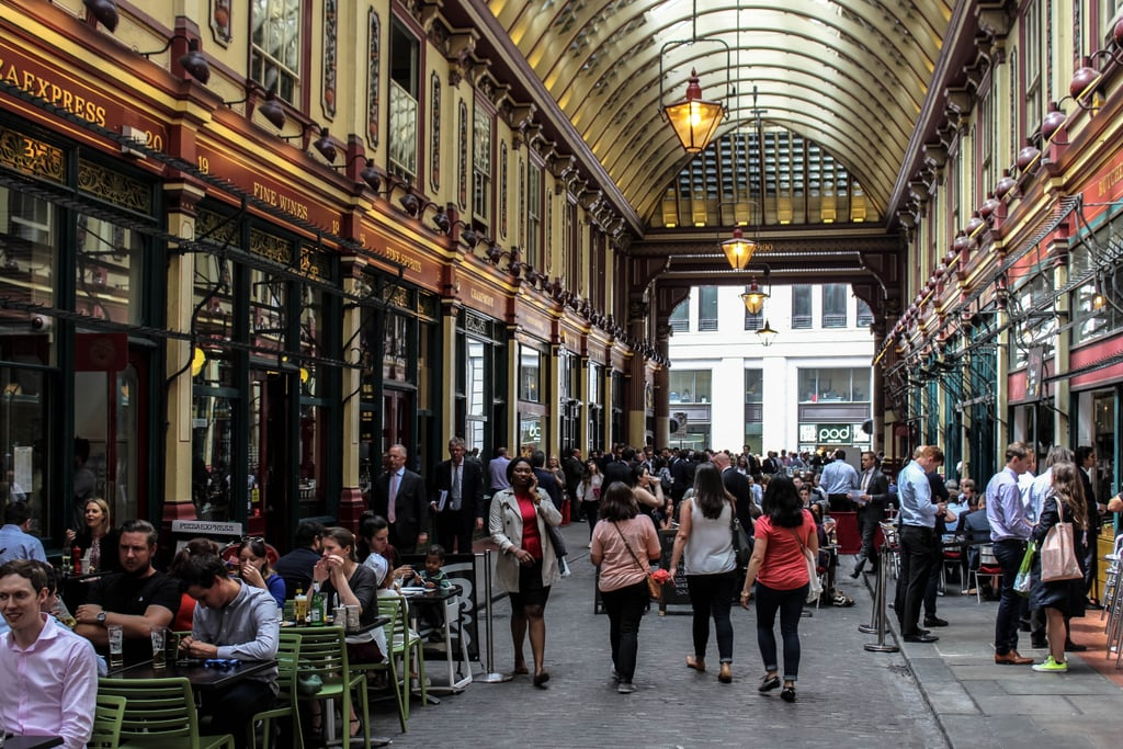 Peruse the shops and stalls at the lovely Leadenhall Market.