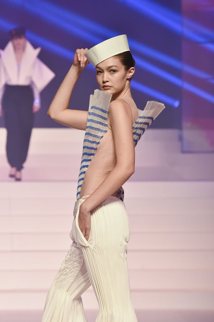Gigi Hadid on the Jean-Paul Gaultier Runway