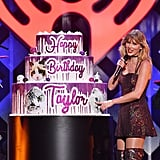 Taylor Swift Gets a Cake For 30th Birthday at Jingle Ball