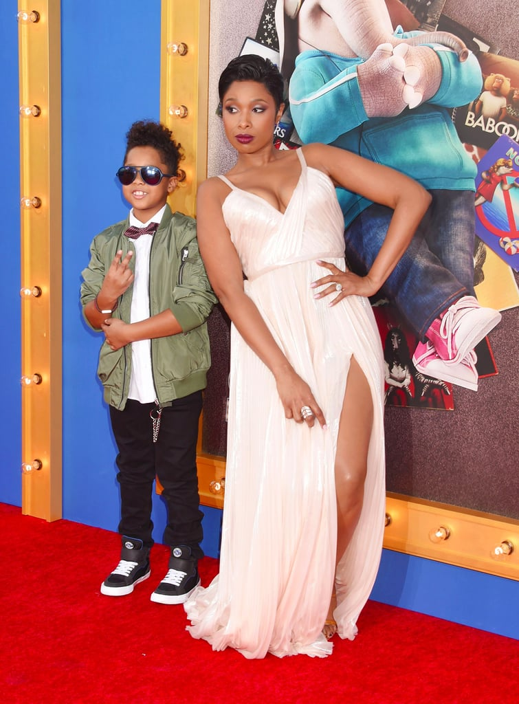 Jennifer Hudson at LA Sing Premiere With Son