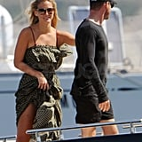 Bar Refaeli and David Fisher spent the day together.