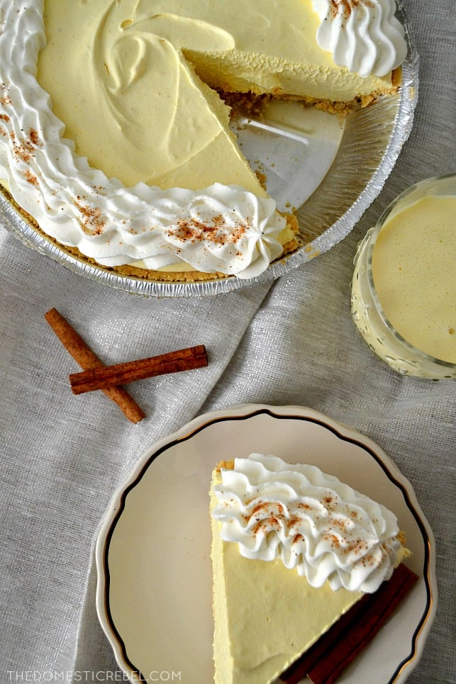 Eggnog Cream Pie | 11 No-Bake Desserts to Make For and ...